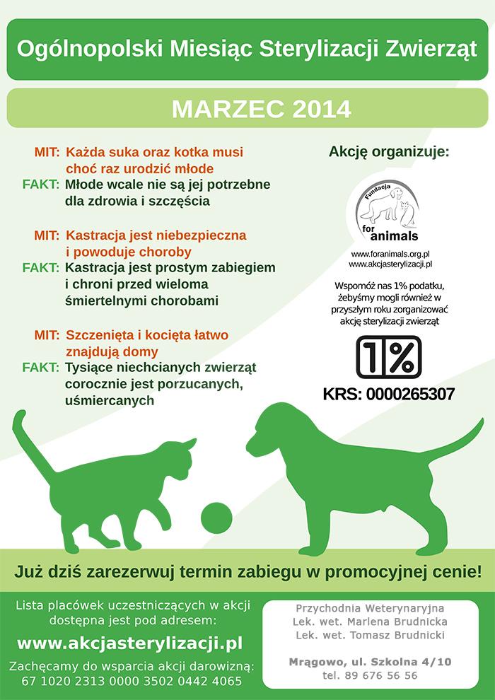 ogólnopolska akcja sterylizacji 2014